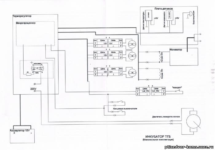 Схема к инкубатору ТГБ (полная